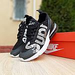 Женские кроссовки Nike Air Max 270 Supreme (черно-белые) 20041, фото 8