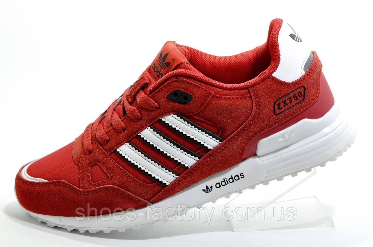 Мужские кроссовки в стиле Adidas ZX750, Red\White (Красные)