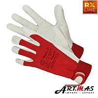 Рукавиці робочі комбіновані з козячої шкіри  ART  MAS