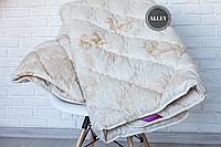 Одеяло ODA двуспальное из Овечьей шерсти 175х210 см.  Ковдра вовняна Ода   Одеяло на овчине