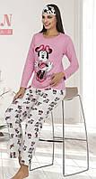 Жіноча котонова піжама з пов'язкою Le'Maries