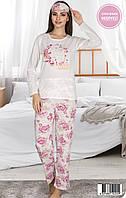 Жіноча літня котонова піжама з пов'язкою Miss Carella