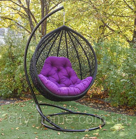 """Підвісне крісло-кокон """"Веста"""" чорна, фото 2"""