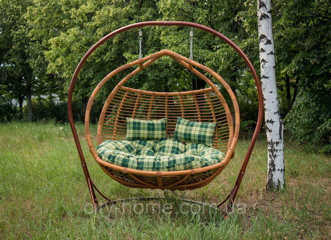 """Подвесное кресло-кокон """"Галант полосатый"""" лоза"""