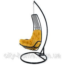 """Подвесное кресло-кокон """"Дели"""" серое, фото 2"""