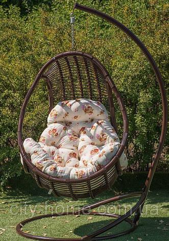 """Підвісне крісло-кокон """"Комфорт"""" коричневе, фото 2"""