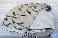 Одеяло ODA двуспальное Шерстяное 155х210 см.  Хутряна ковдра Ода   Одеяло меховое с овечьей шерсти