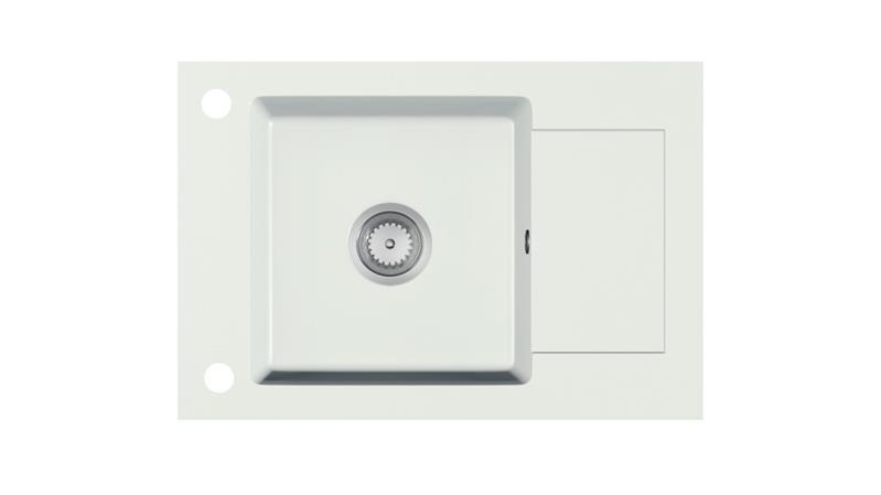 Мойка кухонная гранит STEMA белый крошка 78х44 (Halmar)
