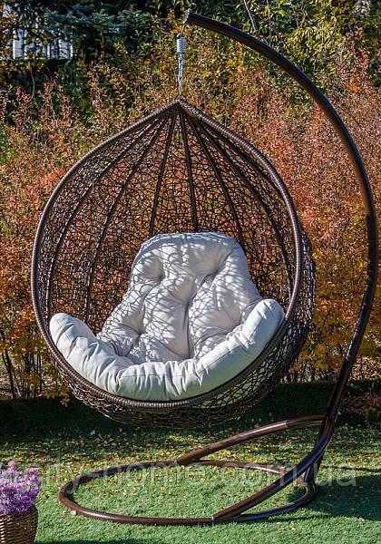"""Подвесное кресло-кокон """"Эмилия"""" коричневое"""