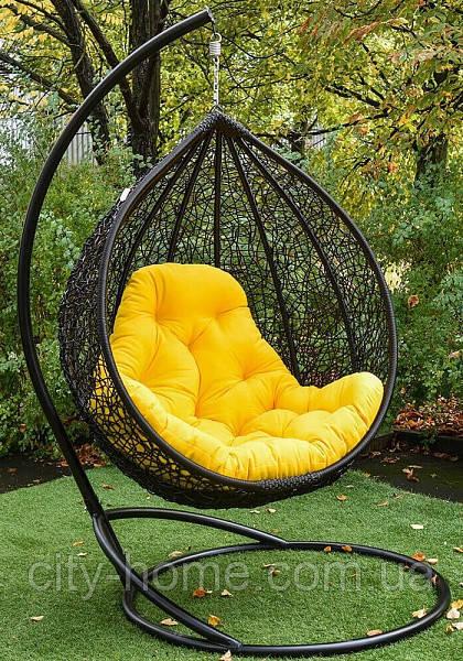 """Підвісне крісло-кокон """"Емілія"""" чорне"""