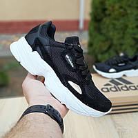 Женские кроссовки Adidas Falcon (черно-белые) 20043