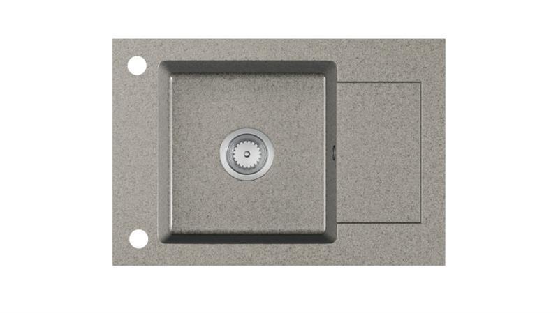 Мойка кухонная гранит STEMA серый крошка 78х44 (Halmar)