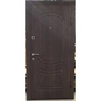 Дверь входная металлическая    ПО-01 Украина МДФ/МДФ орех коньячный