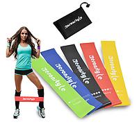 Набор Фитнес резинки ESONSTYLE из 5 лент и чехла для фитнеса