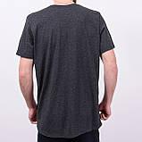 Чоловіча спортивна футболка Reebok великого розміру, темно-сірого кольору, фото 3
