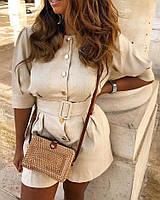 Комбинезон женский с шортами в расцветках  42577