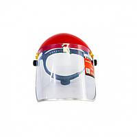 Щиток захисний, 400х200 мм, пластик для особи, розбірний корпус // MTX