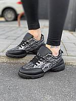 Кроссовки женские Dior D9458 черные