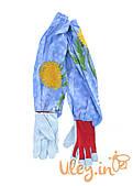 Перчатки с нарукавниками  кожаные