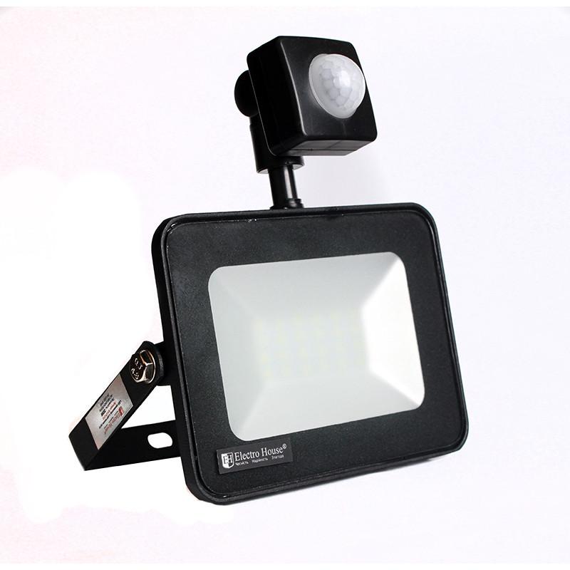 ElectroHouse LED прожектор с датчиком движения 20W 6500K 1800Lm IP65