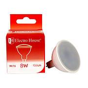 Светодиодная лампа ElectroHouse для точечных светильников MR16 8W 4100K 720Lm