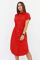 S, M, L | Женское красное платье-рубашка Sandy