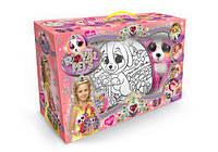 Набор сумочка раскраска с игрушкой dankotoys rp-01-02 royal pet s Собачка
