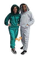 Костюм пчеловода габардин с маской «евро» р.46-48/ р.50-52/ р.54-56/ р.58-60/ р.62-66