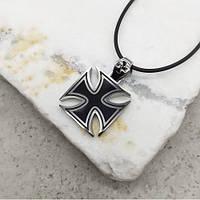 Кулон мальтійський хрест з медичної сталі 5 см 175553