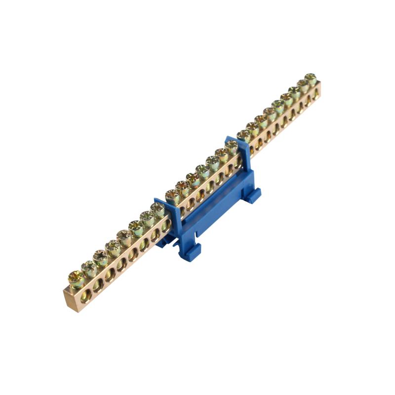 ElectroHouse Шина нулевая 24 отверстия на DIN рейку 100A IP20