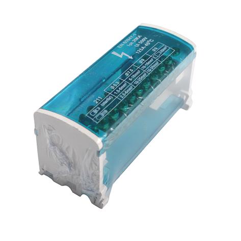 ElectroHouse Шина нулевая в корпусе (кросс-модуль) 2X11 125A IP20, фото 2