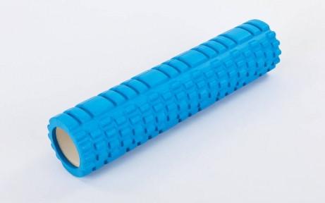 Роллер для занятий йогой и пилатесом Grid Combi Roller l-61см FI-6673 (d-14см, l-61см,Синий)