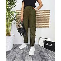 Брюки женские с накладными карманами Карго 3363