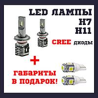 Автомобильные лед лампы LED для авто H7,H11 5000K 4800Lm CR type 33
