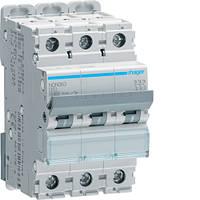 Автоматичний вимикач 3п, D-63А, 10 kA, 3м Hager, фото 1