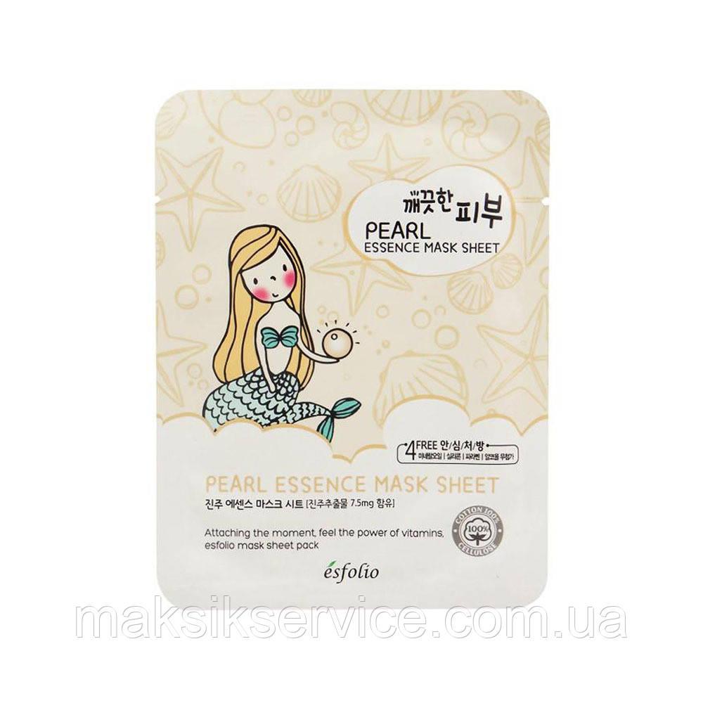 Тканевая маска с жемчугом Esfolio Pearls Essence Mask Sheet