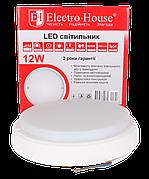 ElectroHouse LED светильник для ЖКХ 12W 6500K 1020Lm IP54