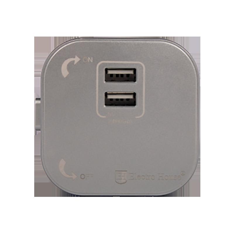 ElectroHouse Розетка 2-я USB Pandora 2A IP40