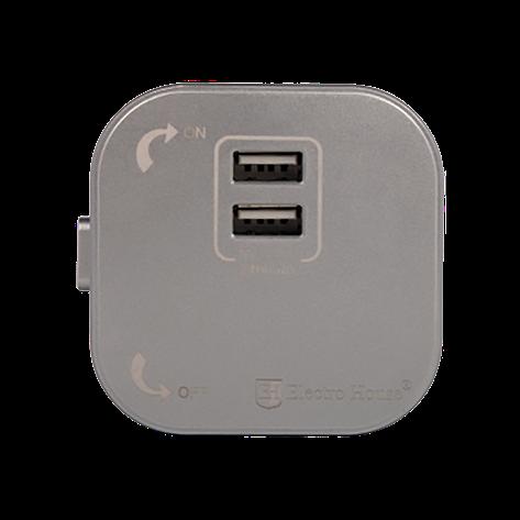ElectroHouse Розетка 2-я USB Pandora 2A IP40, фото 2