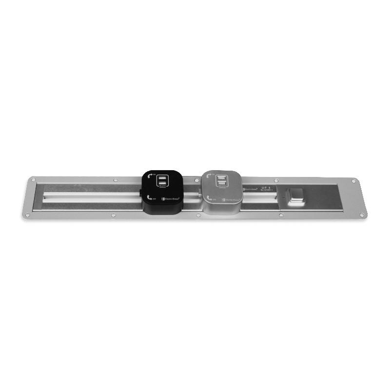 ElectroHouse Рамка врезная для трековой рейки 2 м серебро