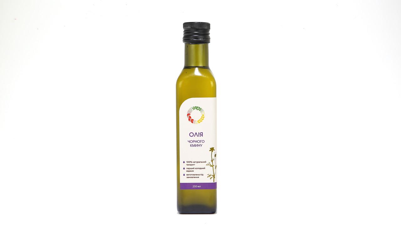 Черного тмина масло 0,25 л сертифицированное без ГМО сыродавленное холодного отжима