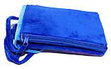 Сумочка с кошечкой с двумя отделениями 17х10 см синяя, фото 3