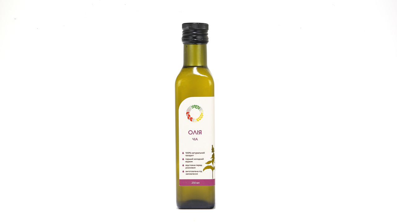 Чиа масло 0,25 л сертифицированное без ГМО сыродавленное холодного отжима