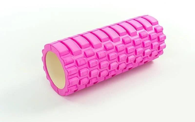 Роллер для занятий йогой и пилатесом Grid  Roller l-33см  FI-4940 (d-14,5см, l-33см,розовый))