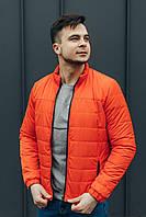 Оранжевая демисезонная мужская куртка , размер S,  L, XL