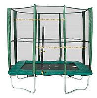 Прямоугольный батут Kidigo 215 х 150 см с защитной сеткой