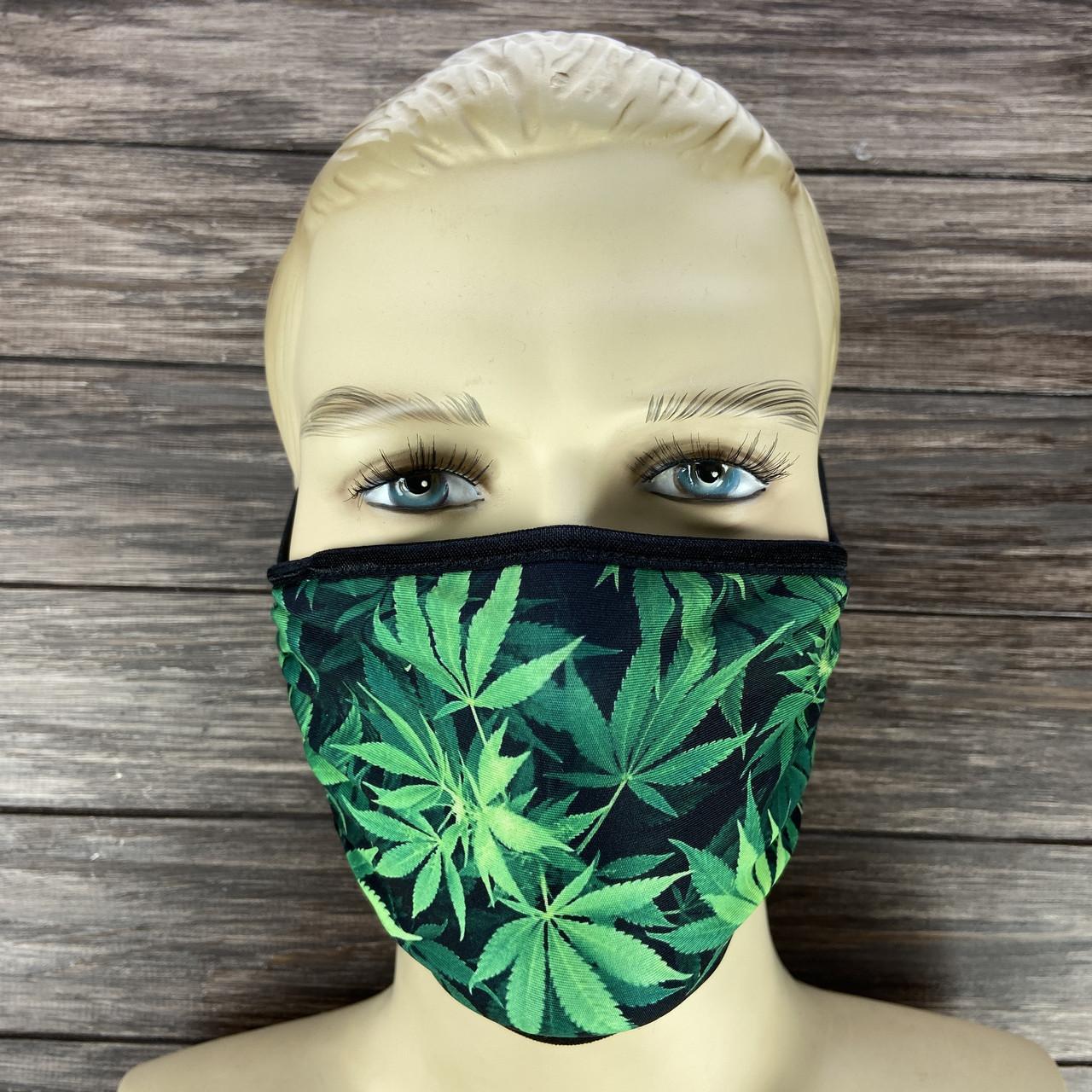 "Многоразовая маска на лицо ""Марихуана"""