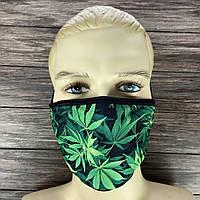 """Многоразовая маска на лицо """"Марихуана"""", фото 1"""