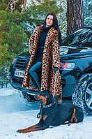 Шуба женская искусственная леопардовая 271