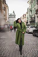 Шуба женская искусственная зеленая 271